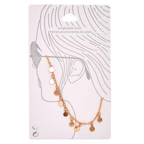 Rose Gold Polka Dot Sunglasses Chain,