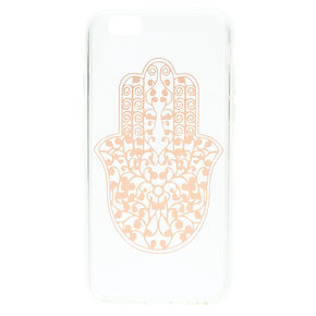 Rose Gold Hamsa Hand Clear Phone Case - Fits iPhone 6/7/8 Plus,