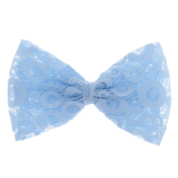 Powder Blue Lace Bow Hair Clip,