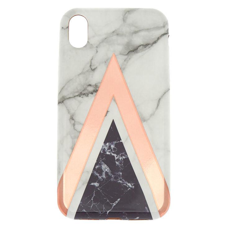 Geometric Marbled Phone Case - Fits iPhone XR,