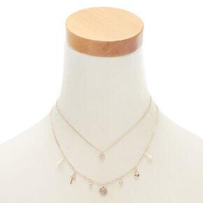 Rose Gold Lock & Key Pendant Necklaces - 2 Pack,