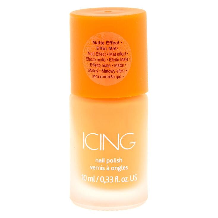 Orange Matte Nail Polish,