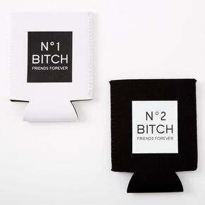 Number 1 & Number 2 Bitch Friends Forever Drink Koozie Set - 2 Pack,