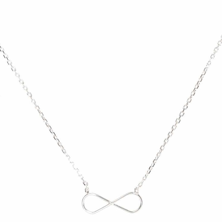 Silver Toned Infinity Pendant Necklace,