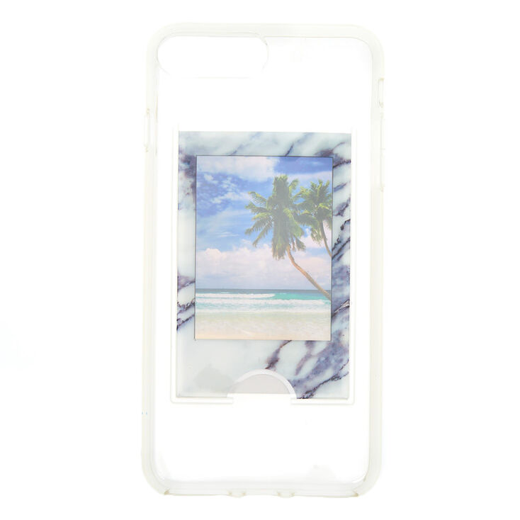 Instax Mini Marble Pocket Phone Case - Fits iPhone 6/7/8 Plus,