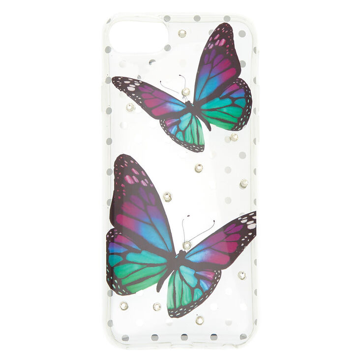 Butterfly Polka Dot Phone Case - Fits iPhone 6/7/8 Plus,