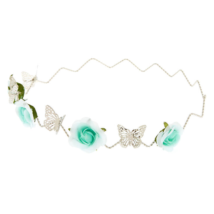 Mint Flower Silver Flower Crown,