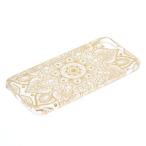 Metallic Gold Mandala Phone Case - Fits iPhone 6/7/8,