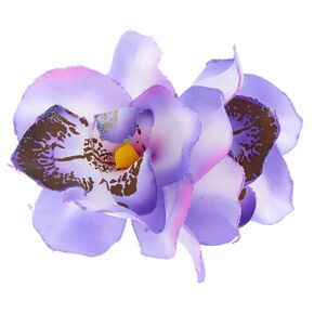 Large Orchid Hair Clips - Purple, 2 Pack,