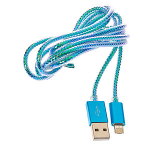 Turquoise Reversible Dual Phone Charger,