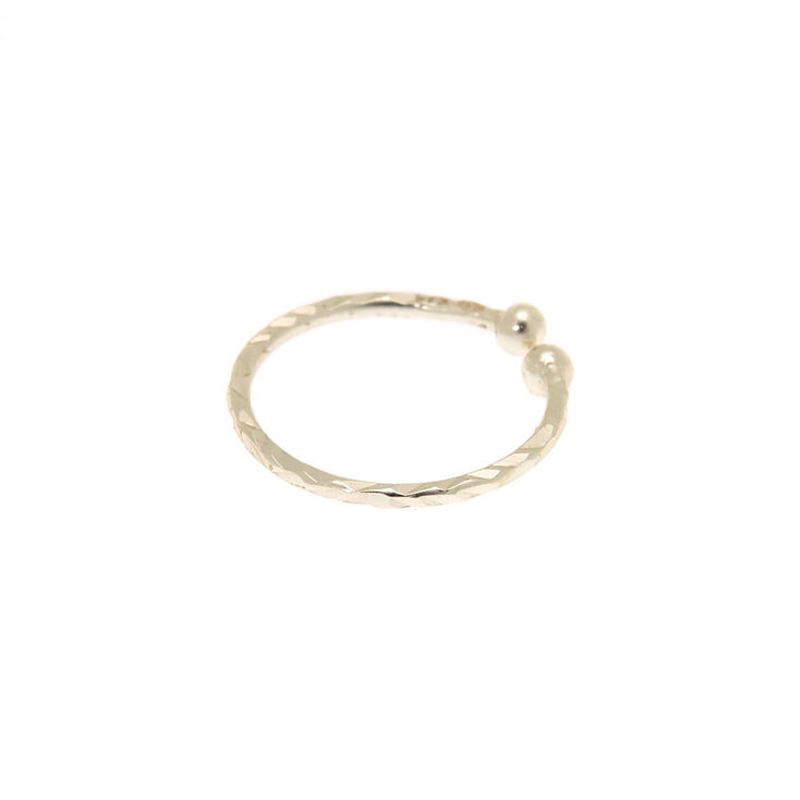 Sterling Silver Laser Cut Faux Nose Ring,
