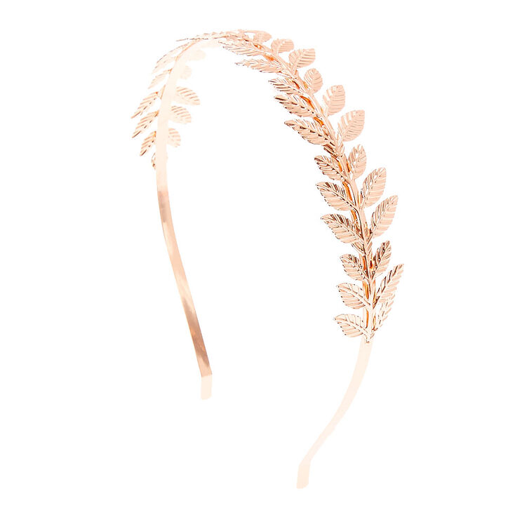 Rose Gold Leaves Headband,