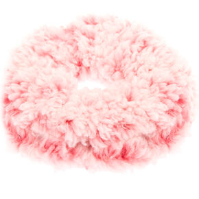 Teddy Hair Scrunchie - Pink,