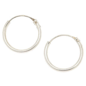Sterling Silver 12MM Endless Hoop Earrings,