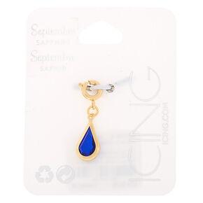 September Birthstone Bracelet Charm - Sapphire,