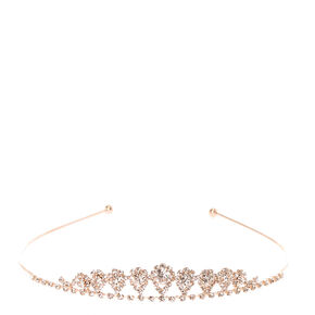 Rose Gold Mini Inverted Tear Drop Tiara,