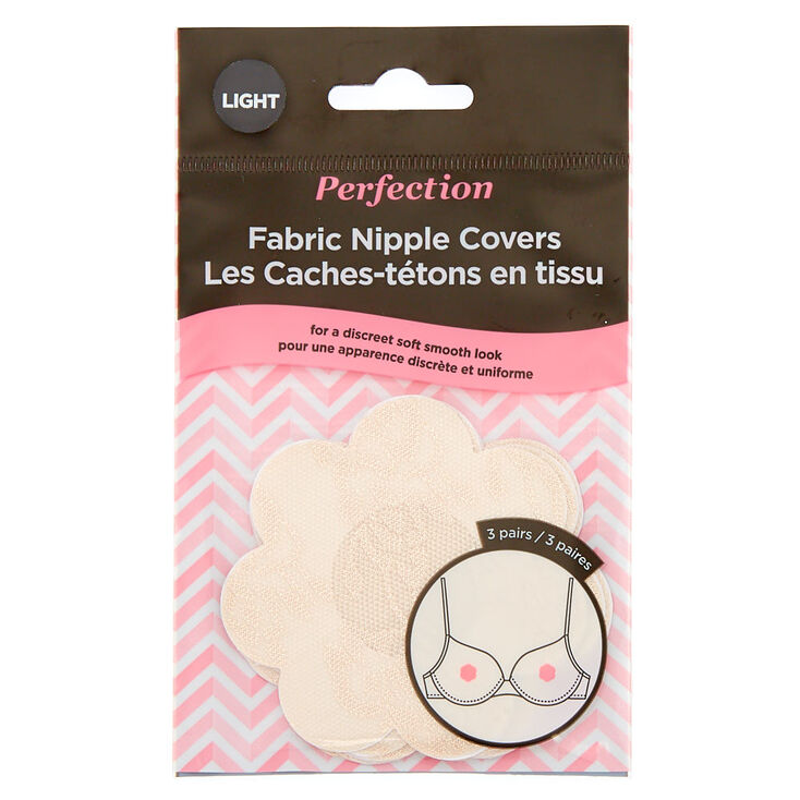 Perfection Fabric Nipple Covers- Light, 3 Pairs,