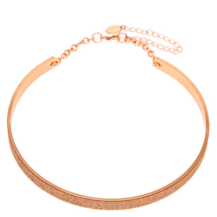 Rose Gold Glitter Tape Collar,