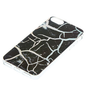 Black Cracked Marble Phone Case,