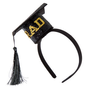 Graduation Cap Headband - Black,