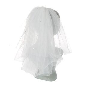 Shoulder Length Bridal Veil - White,