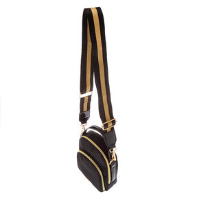 Messenger Crossbody Bag - Black,