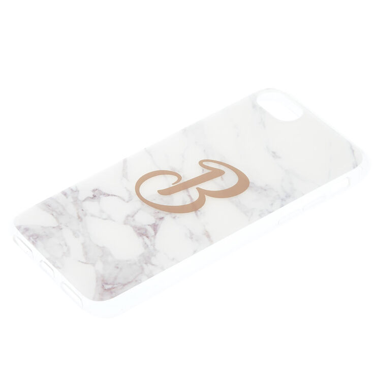 "Marble ""B"" Initial Phone Case,"