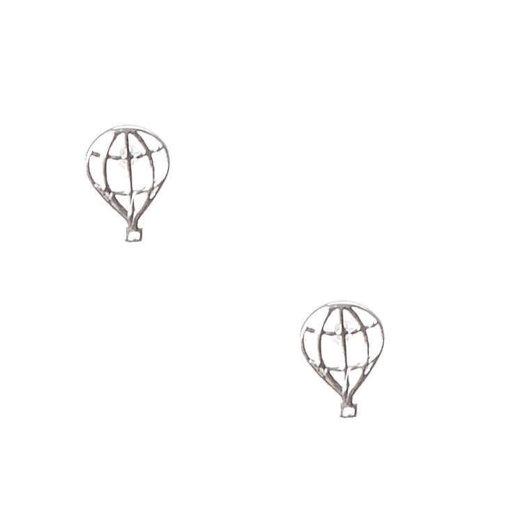 925 Sterling Silver Hot Air Balloon Earrings,