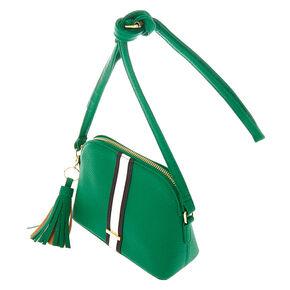 Striped Crossbody Bag - Green,