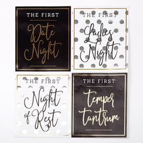 Firsts Wine Bottle Stickers - 4 Pack,