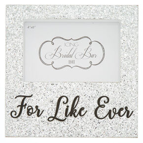Glitter For Like Ever Photo Block - Silver,