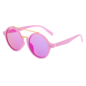 Round Mod Sunglasses - Purple,