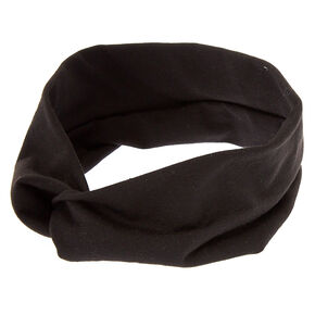 Wide Jersey Headwrap - Black,