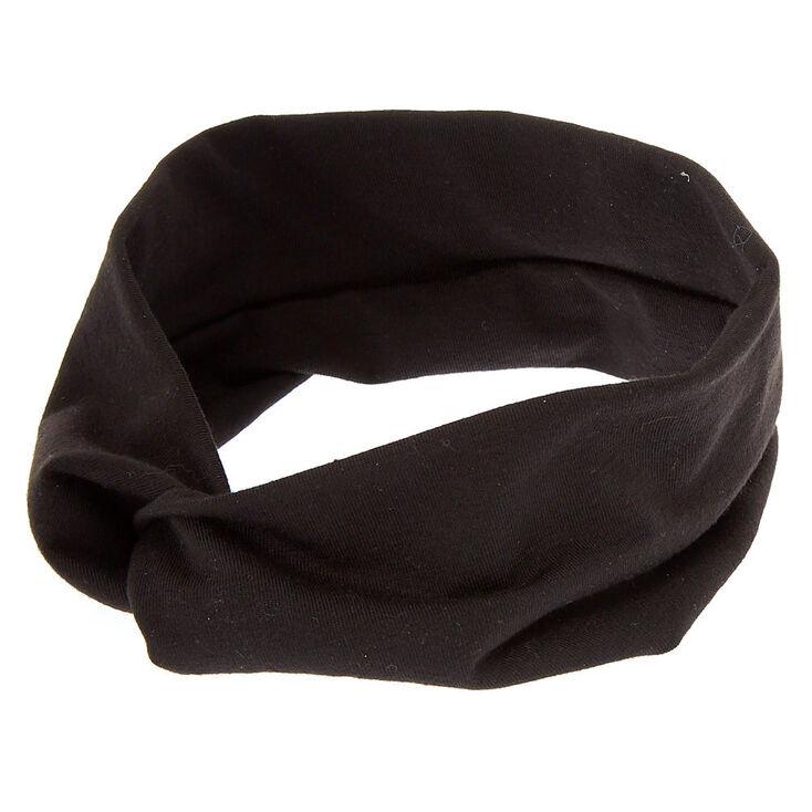 Wide Jersey Headwrap - Black,