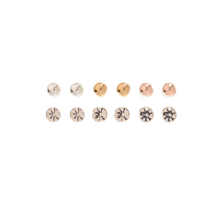 9 Pack Stud & Hoop Earrings,