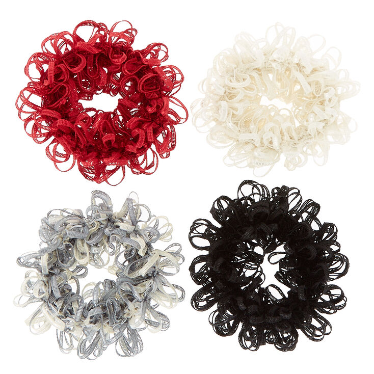 Fall Fun Looped Hair Scrunchies,