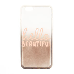 Rose Gold Hello Beautiful Liquid Fill Phone Case - Fits iPhone 6/6S,