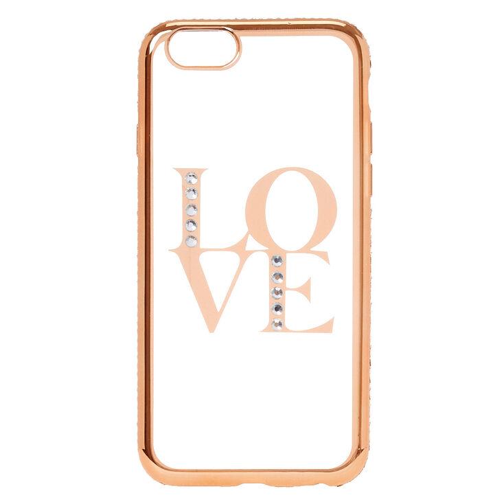 Rose Gold Love Phone Case - Fits iPhone 6/7/8 Plus,