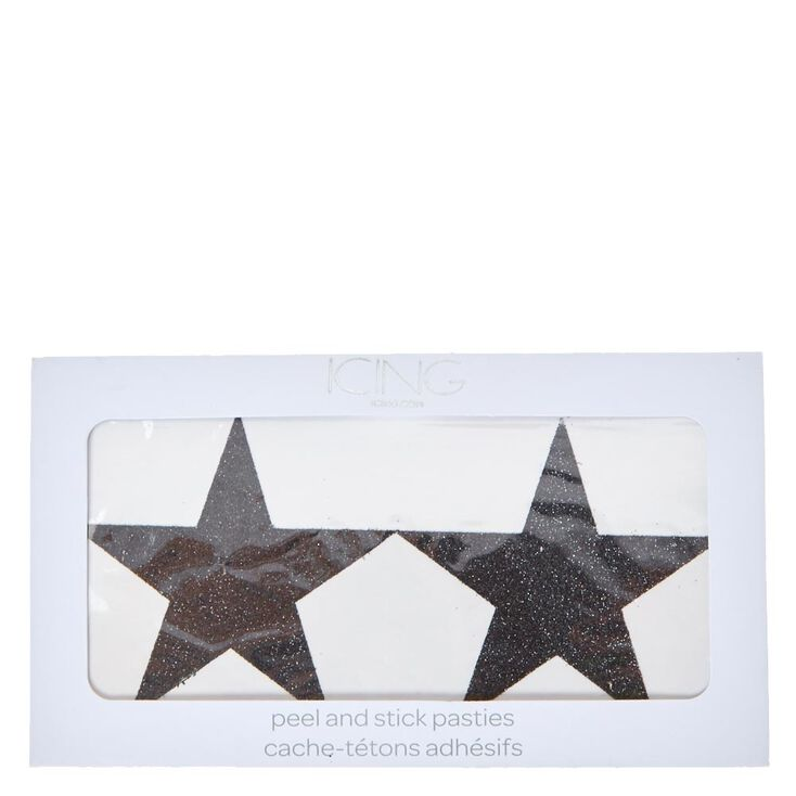 Black Glitter Star Pasties,