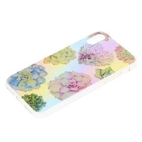 Pastel Succulent Floral Phone Case - Fits iPhone X/XS,