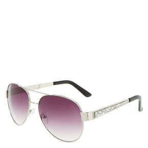 Stone Accent Aviator Sunglasses,