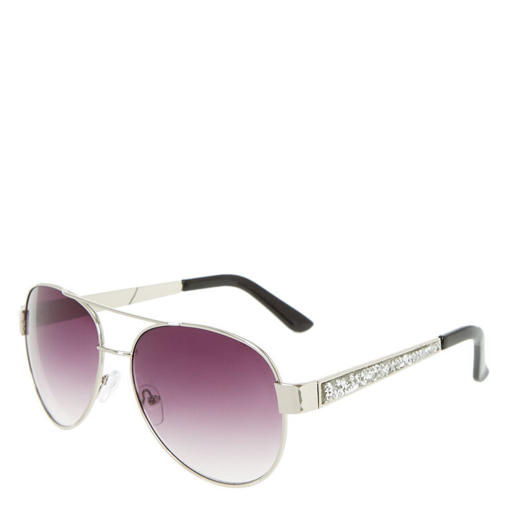 Stone Accent Aviator Sunglasses,