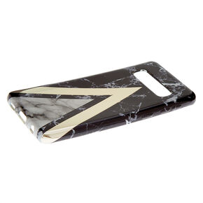 Black Geometric Marble Phone Case - Fits Samsung Galaxy S10,