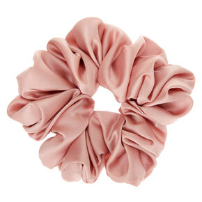 Giant Satin Hair Scrunchie - Blush Pink,