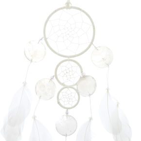 Three Tiered White Dreamcatcher,