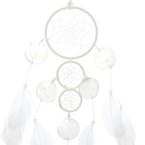 Three Tiered White Dreamcatcher,