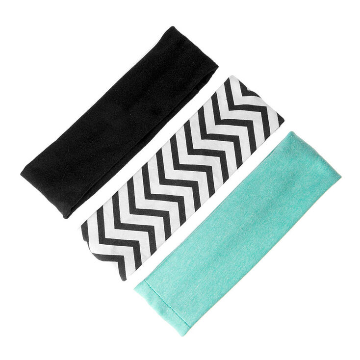 Mint, Black, & Chevron Headwraps,