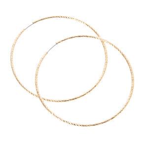 Gold Laser Cut Hoop Earrings,