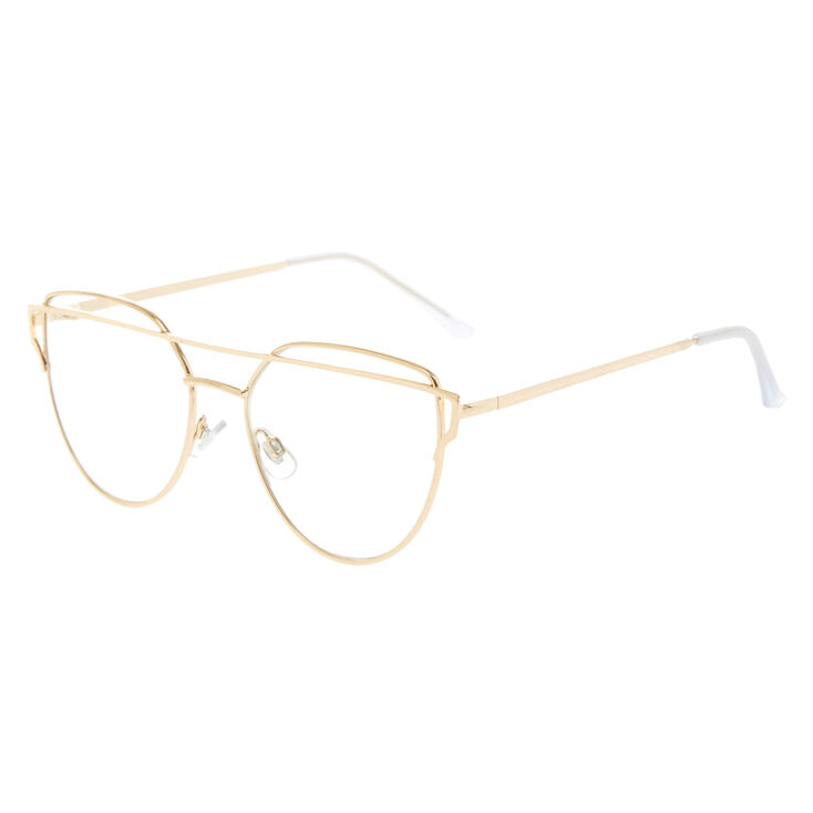 Gold Brow Bar Fake Glasses,