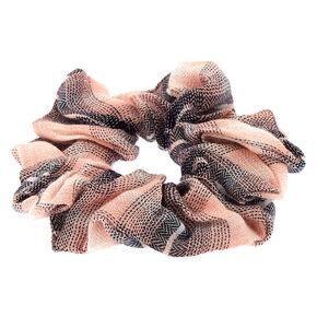 Pretty Plaid Hair Scrunchie - Blush Pink,